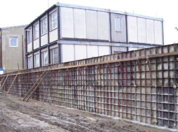 Výstavba protipovodňové stěny firma TAG IRGS Olomouc
